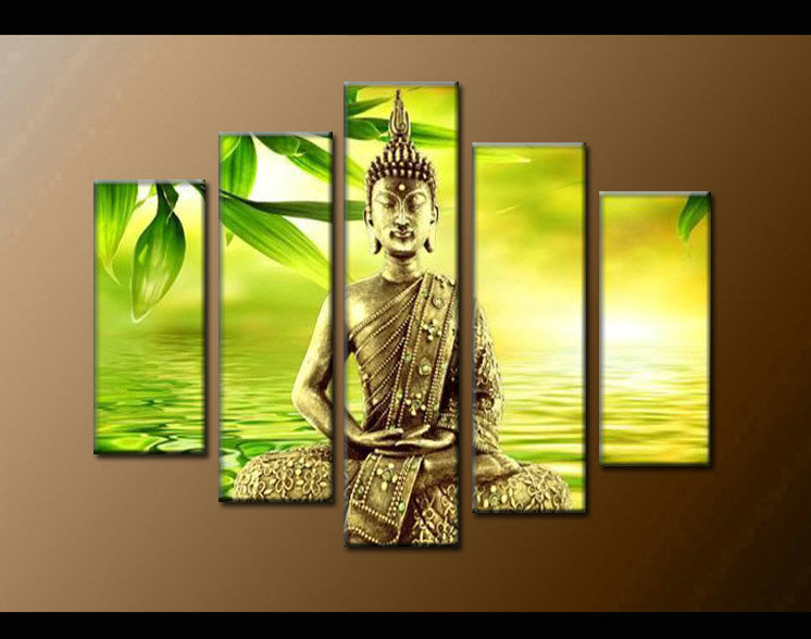 Contemporary zen art Buddha oil painting Buddha007
