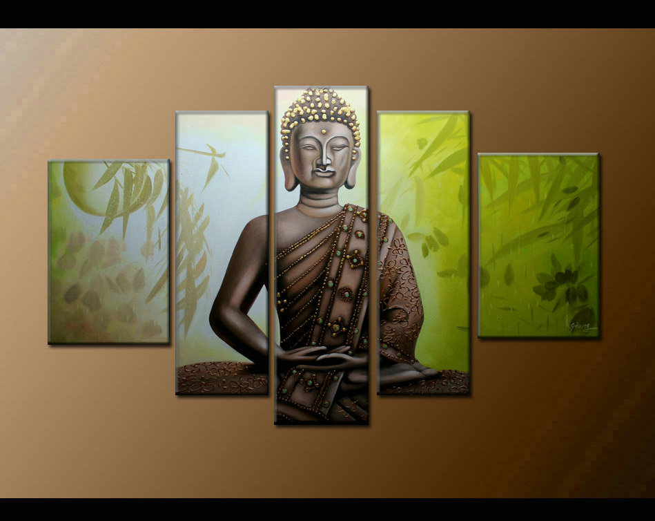 Contemporary zen art Buddha painting Buddha008