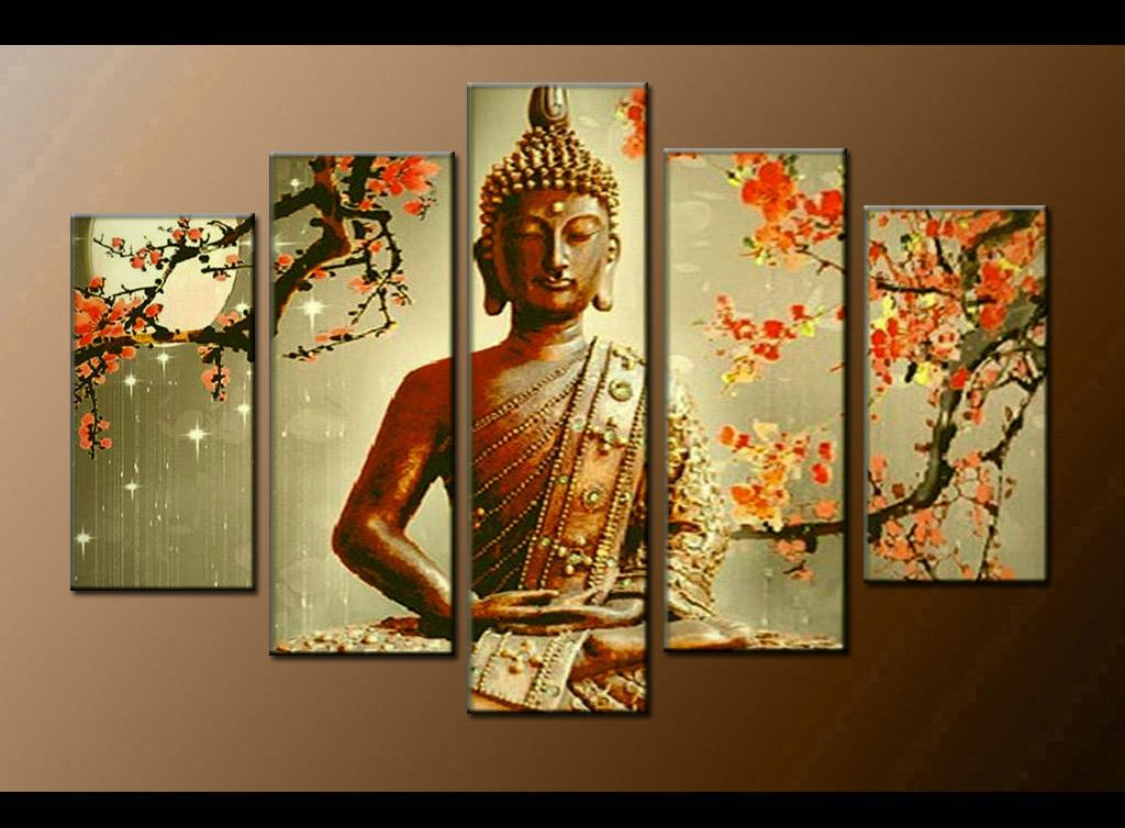 Contemporary zen art Buddha painting Buddha009
