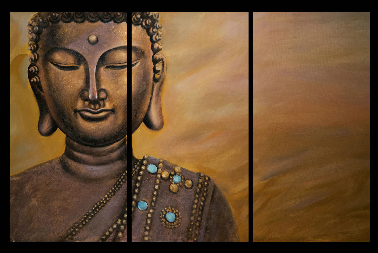 Contemporary zen art Buddha painting Buddha014