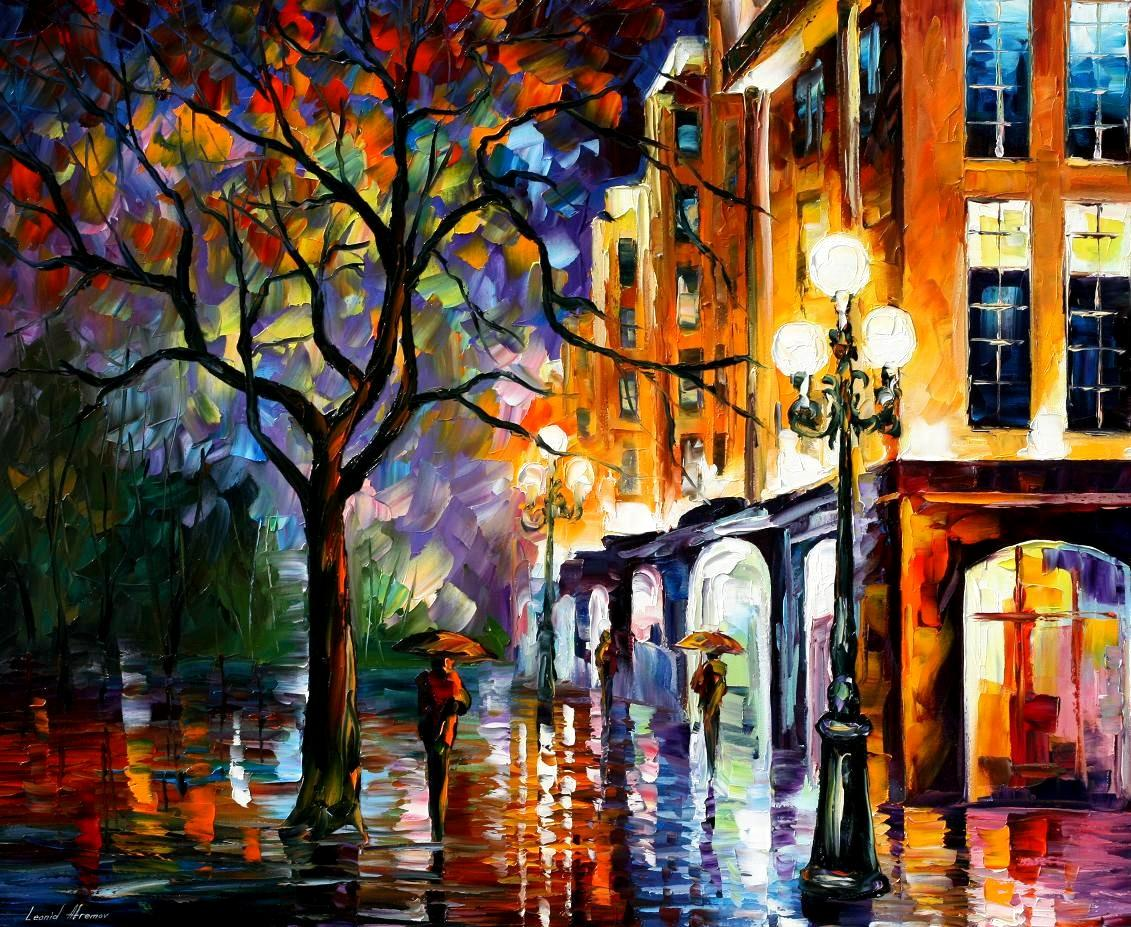 Modern impressionism palette knife oil painting kp15005