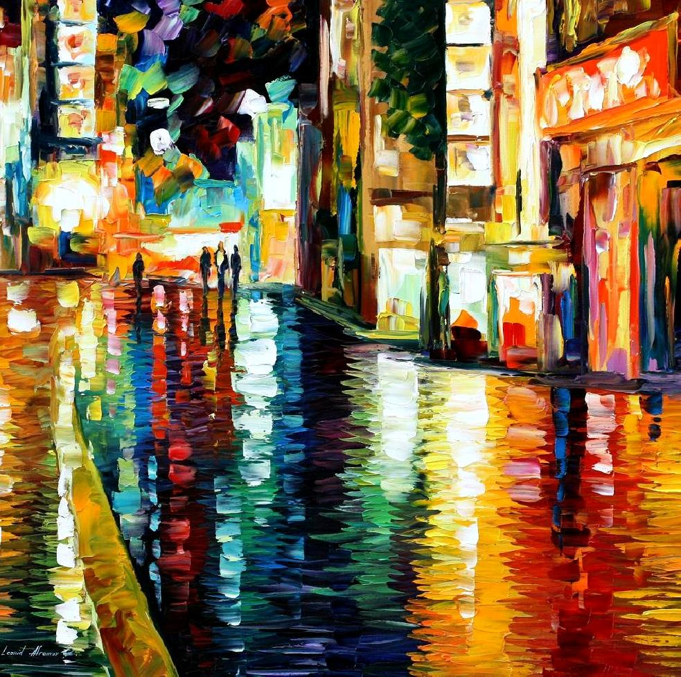 Modern impressionism palette knife oil painting kp15008