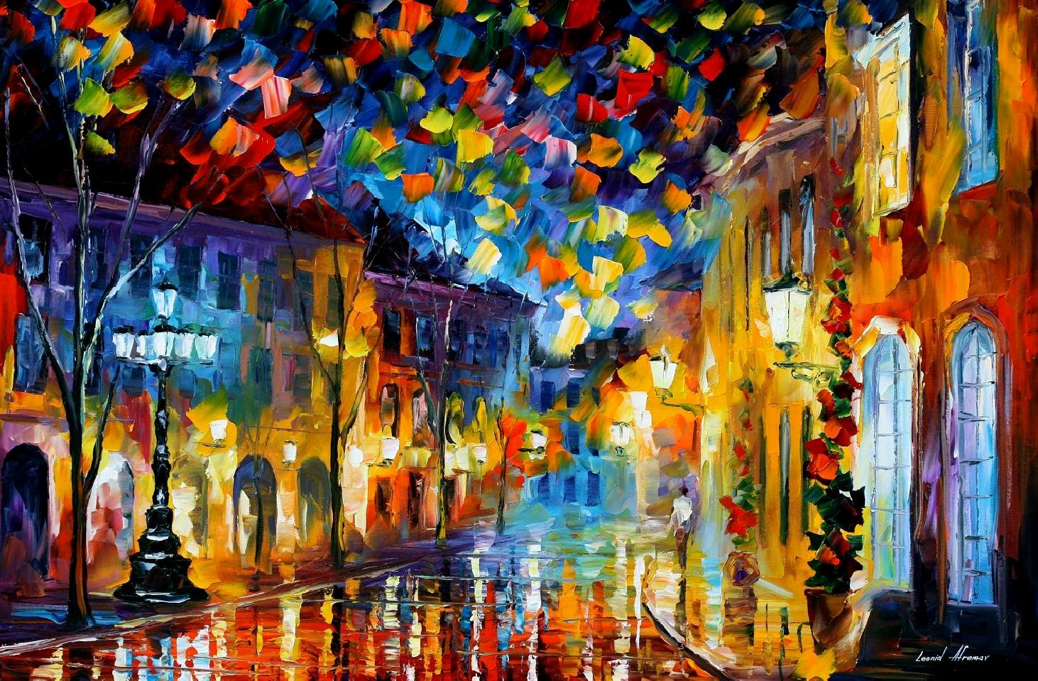 Modern impressionism palette knife oil painting kp15017