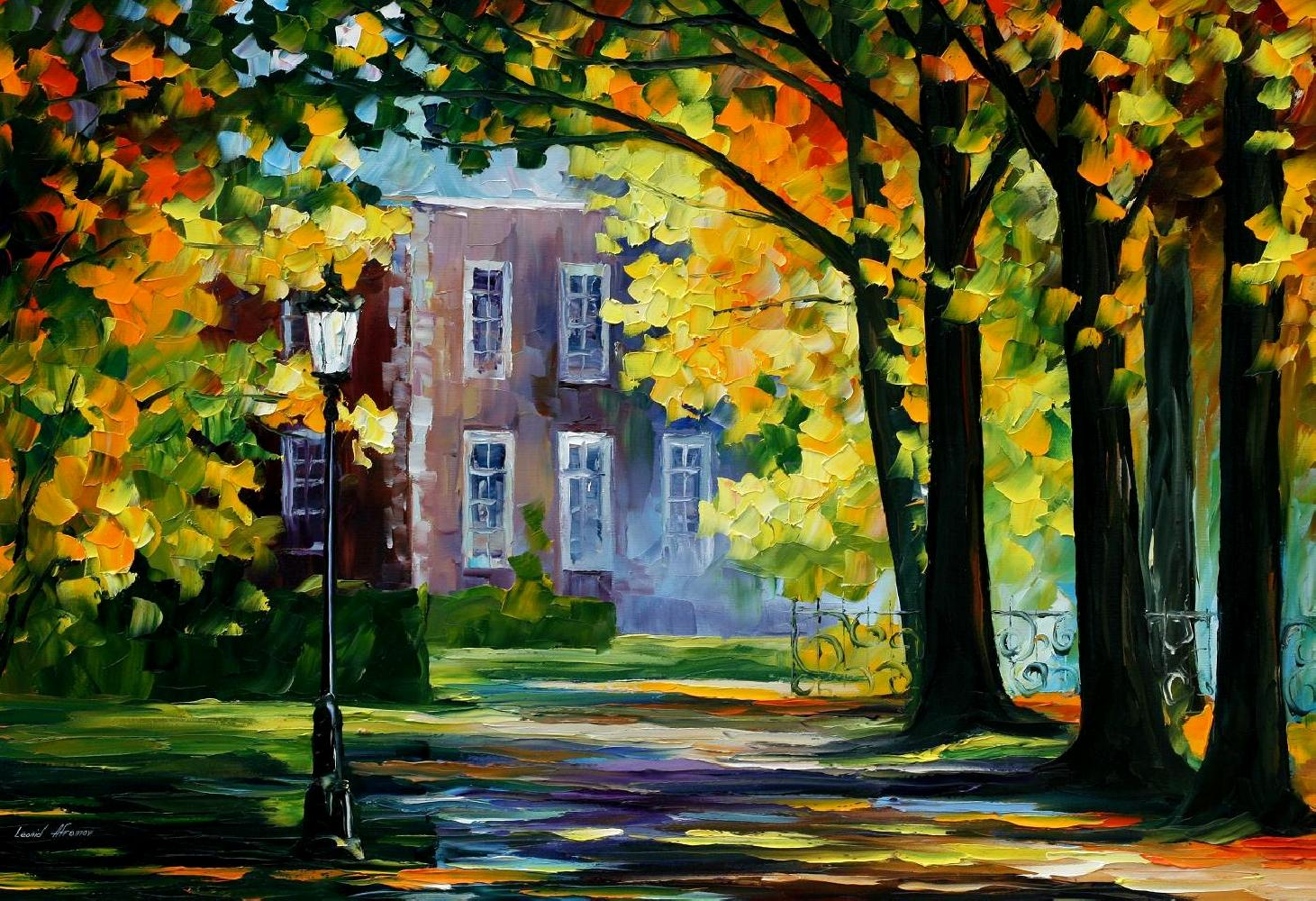 Modern impressionism palette knife oil painting kp15021