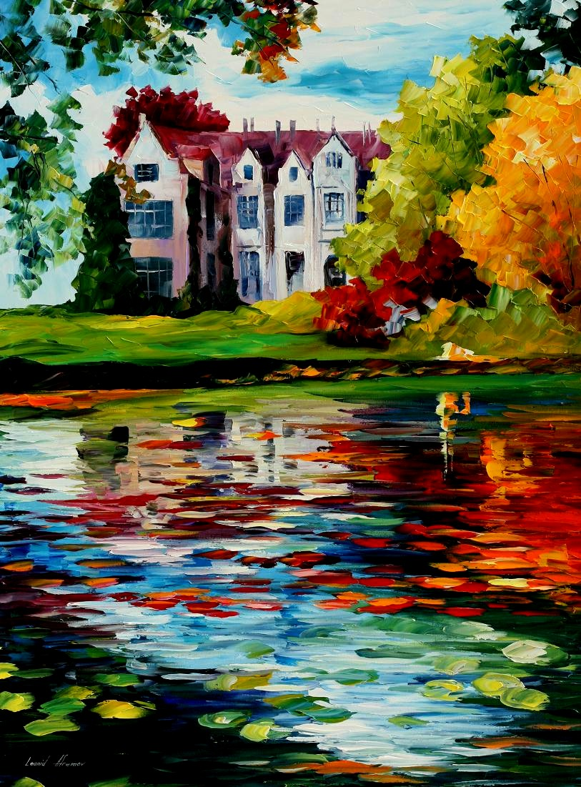 Modern impressionism palette knife oil painting kp15023