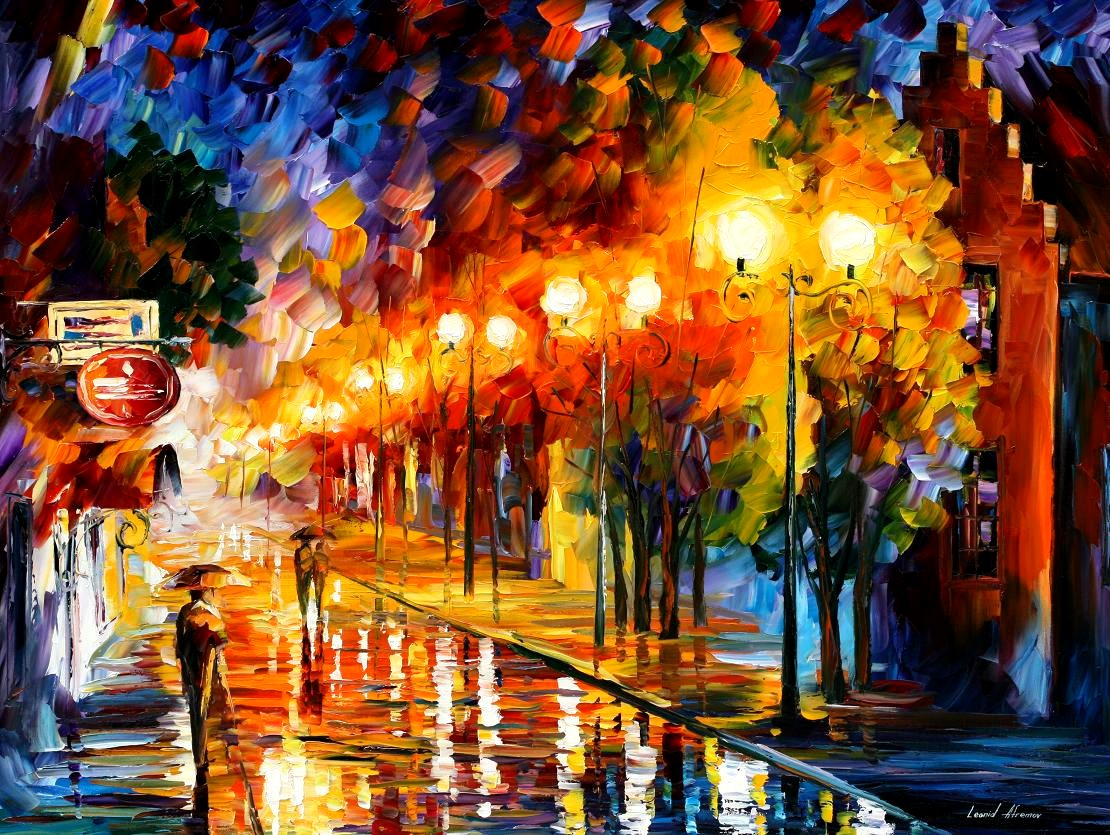 Modern impressionism palette knife oil painting kp15024