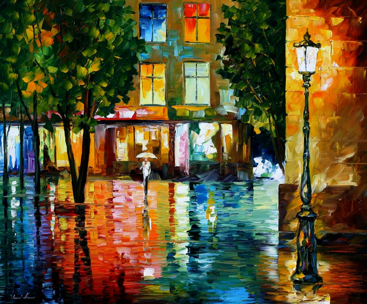 Modern impressionism palette knife oil painting kp15025