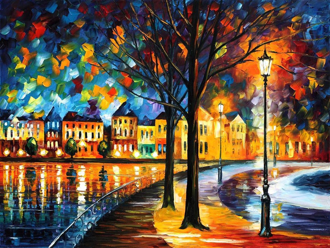 Modern impressionism palette knife oil painting kp15034
