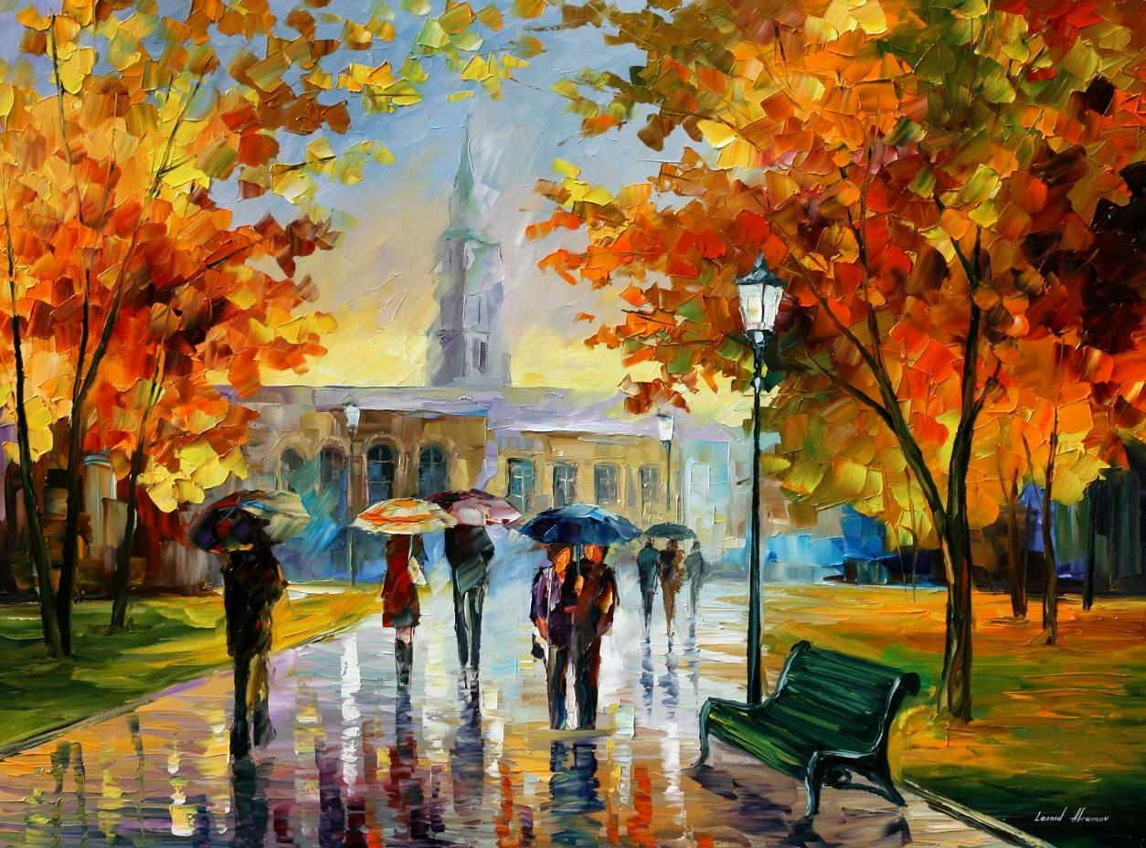Modern impressionism palette knife oil painting kp15039