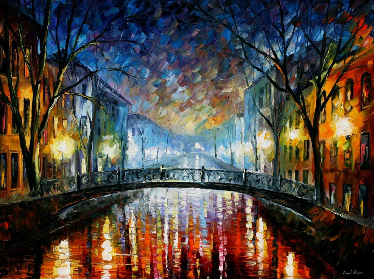 Modern impressionism palette knife oil painting kp15041 for Contemporary oil paintings