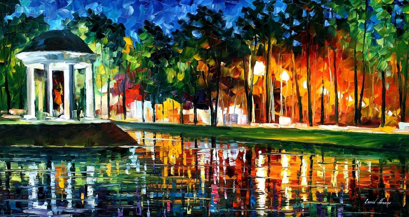 Modern impressionism palette knife oil painting kp15044