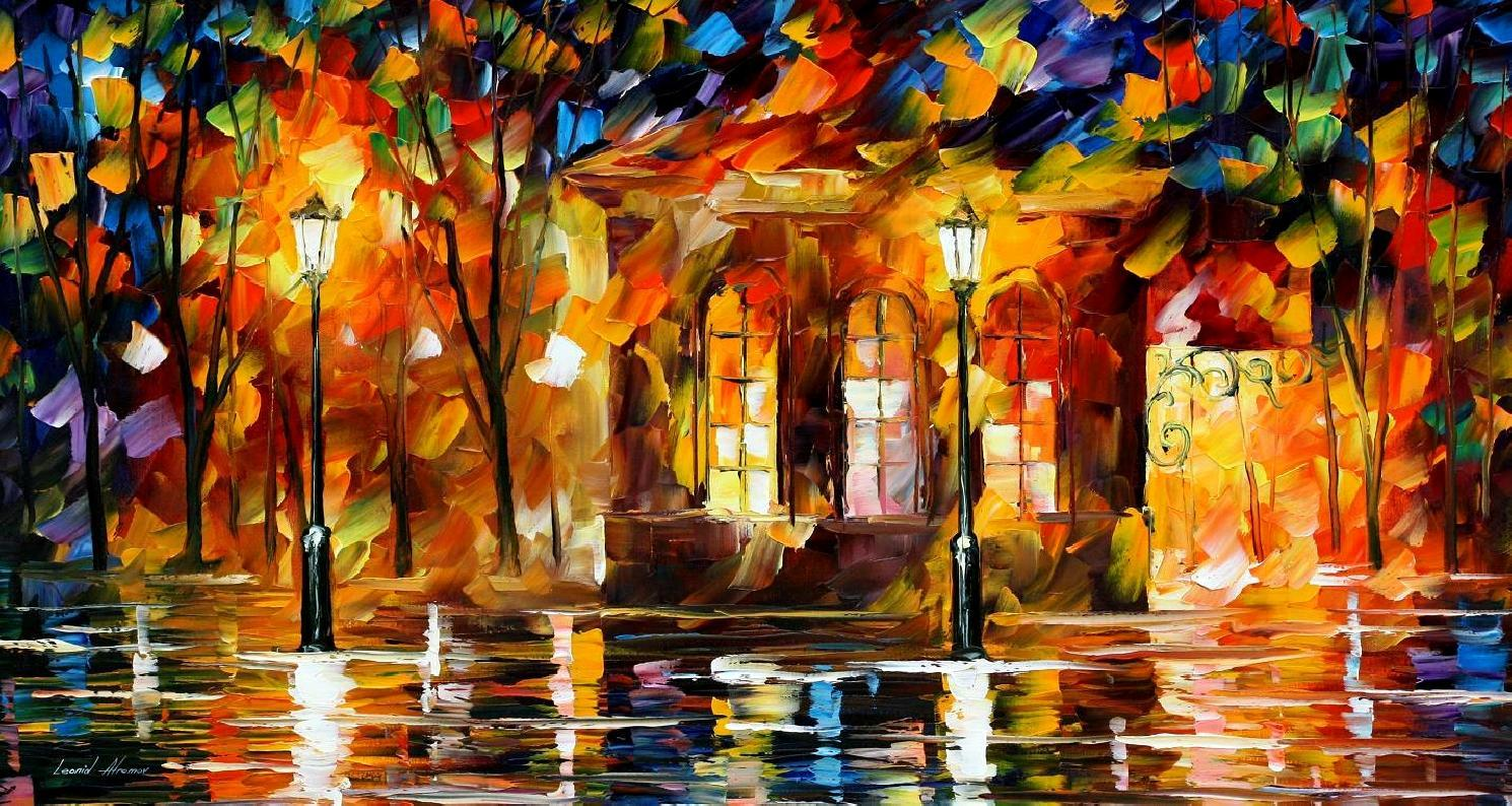 Modern impressionism palette knife oil painting kp15050