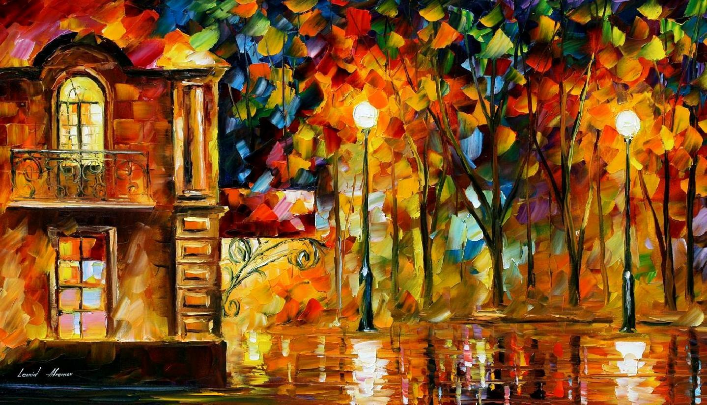 Modern impressionism palette knife oil painting kp15059