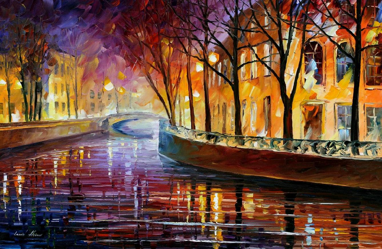 Modern impressionism palette knife oil painting kp15060