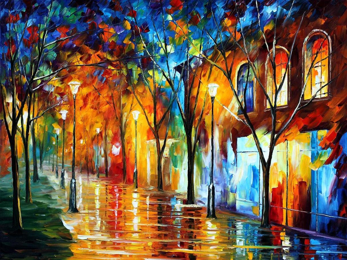 Modern impressionism palette knife oil painting kp15062