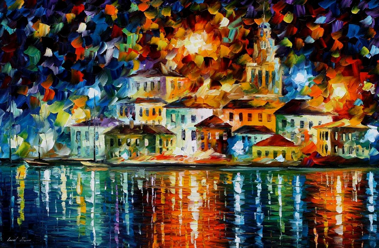 Modern impressionism palette knife oil painting kp15066