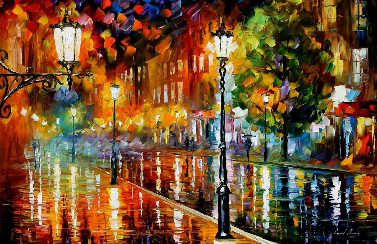 Modern impressionism palette knife oil painting kp15067
