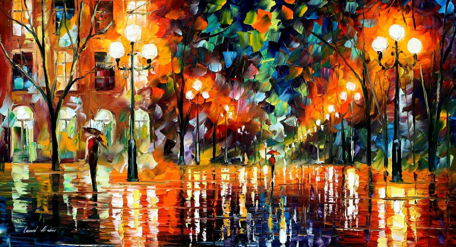 Modern impressionism palette knife oil painting kp15078