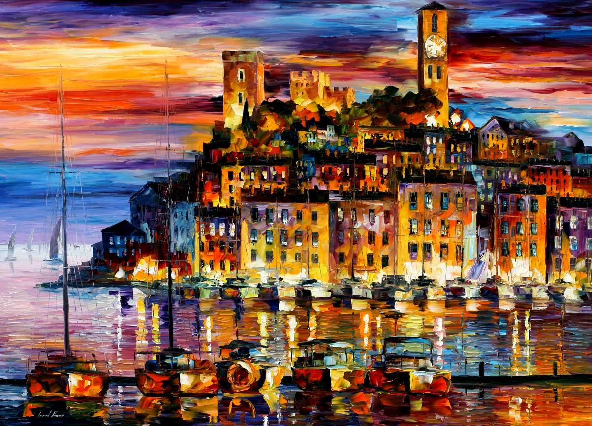 Modern impressionism palette knife oil painting kp15123