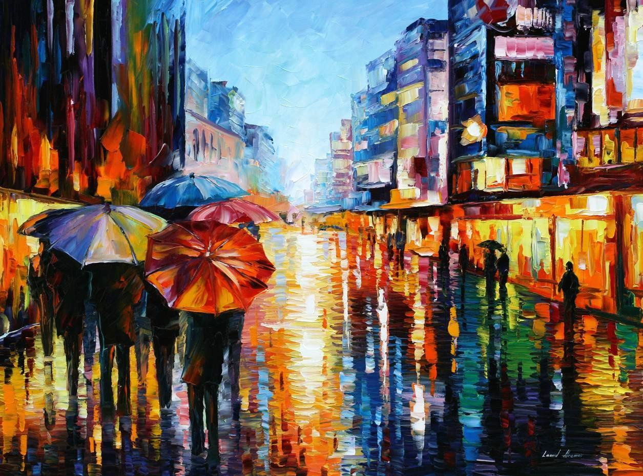 Modern impressionism palette knife oil painting kp15134