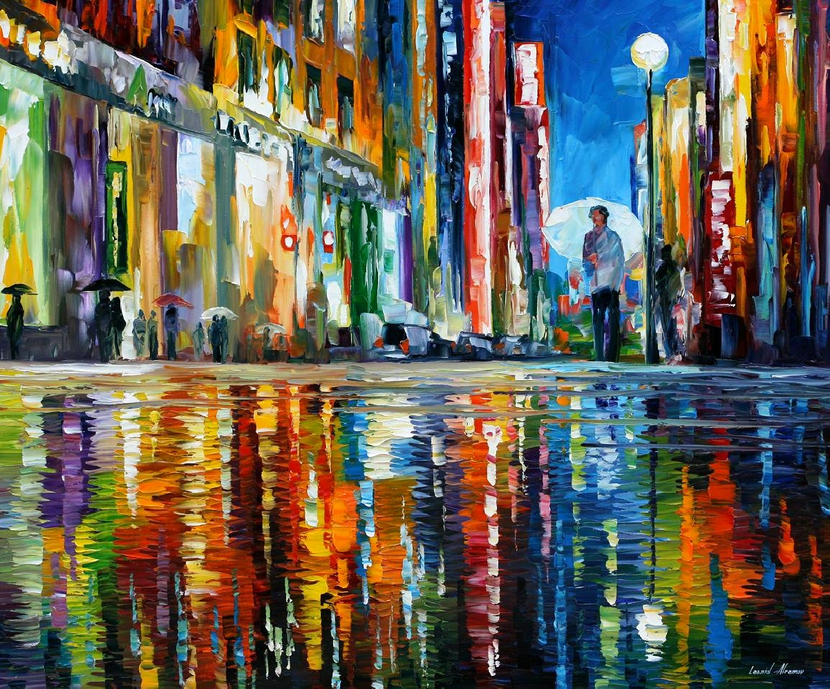 Modern impressionism palette knife oil painting kp15137