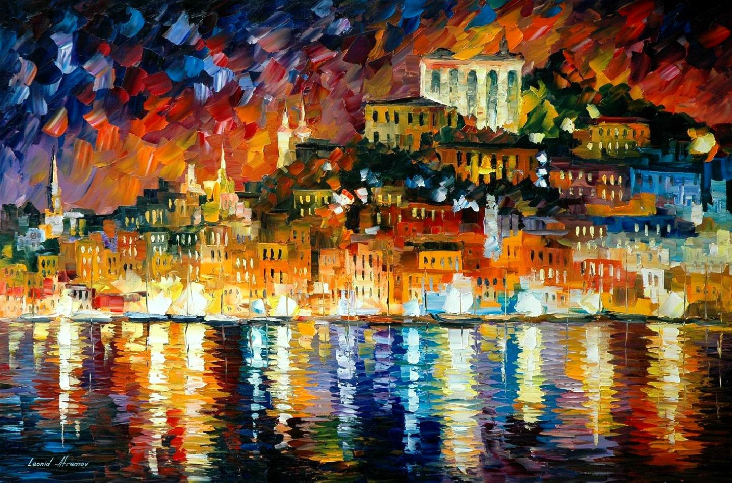 Modern impressionism palette knife oil painting kp15149