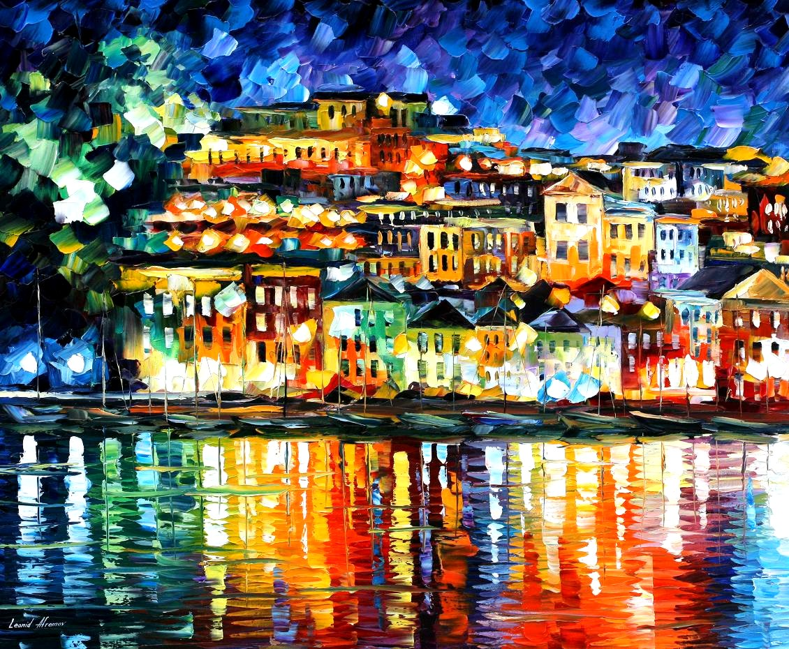Modern impressionism palette knife oil painting kp15150