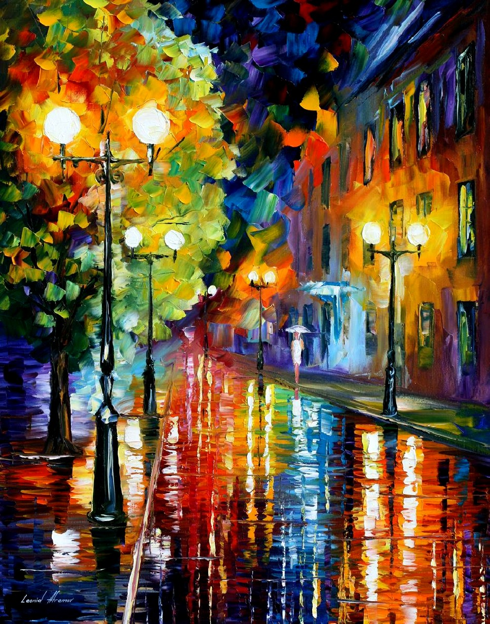 Modern impressionism palette knife oil painting kp15157
