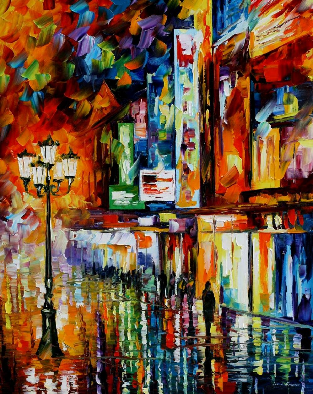 Modern impressionism palette knife oil painting kp15163