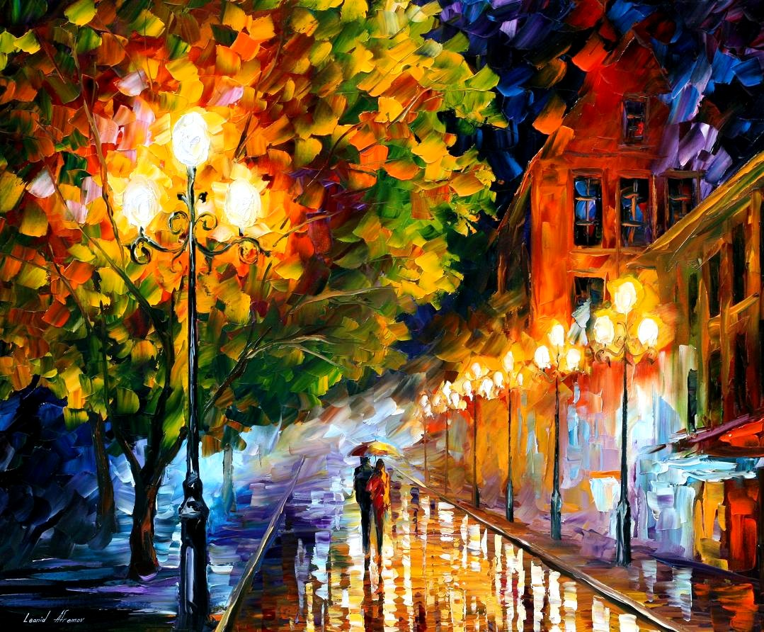 Modern impressionism palette knife oil painting kp15173