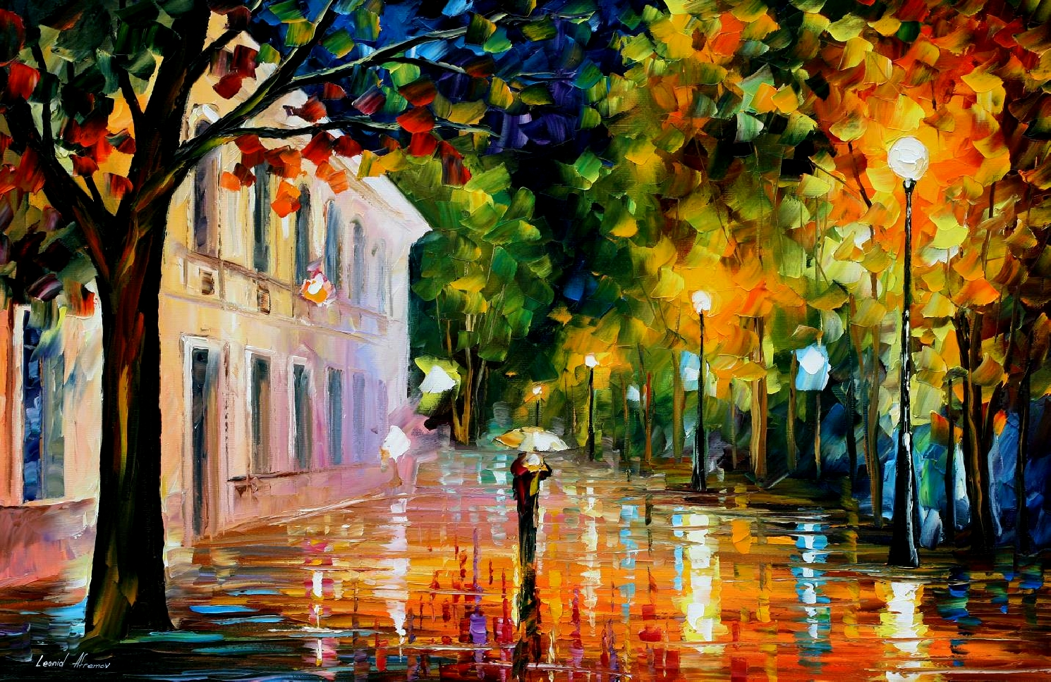 Modern impressionism palette knife oil painting kp15176