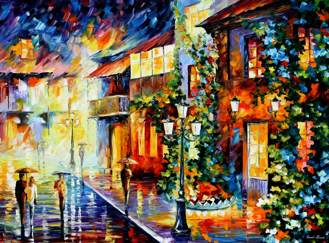 Modern impressionism palette knife oil painting kp15177