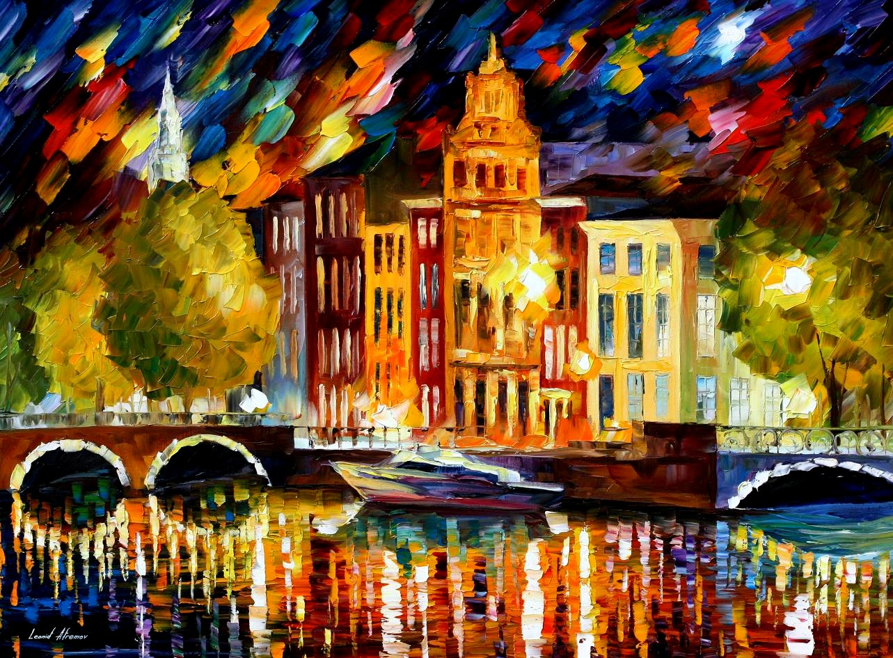 Modern impressionism palette knife oil painting kp15199