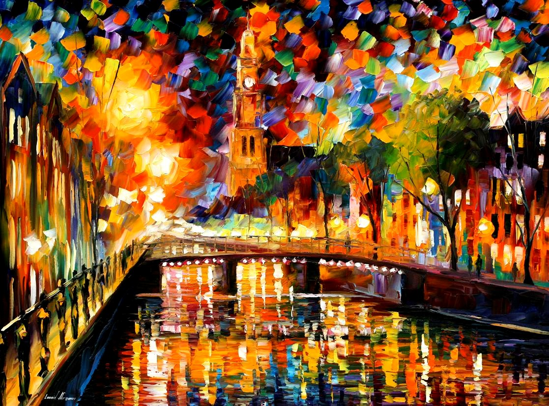 Modern impressionism palette knife oil painting kp15205
