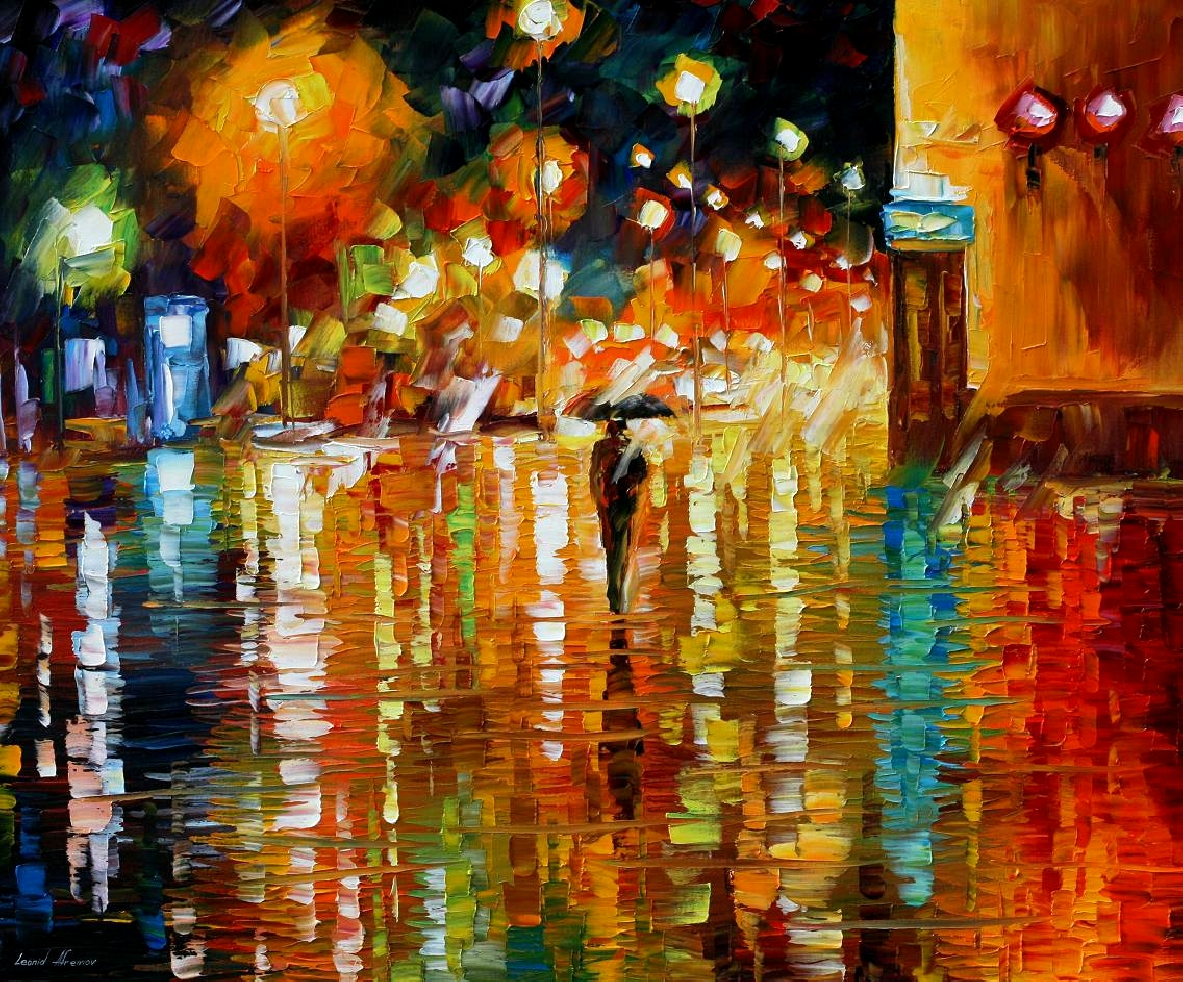 Modern impressionism palette knife oil painting kp15225