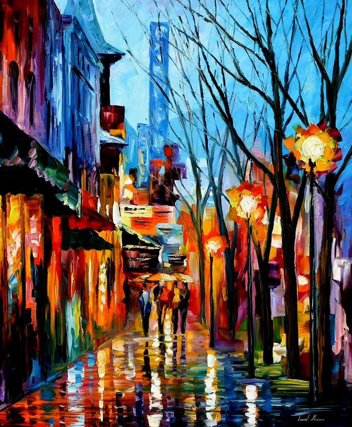 Modern impressionism palette knife oil painting kp15229