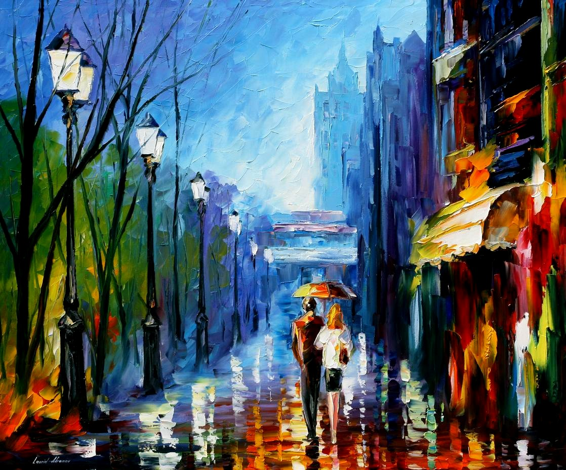 Modern impressionism palette knife oil painting kp15232