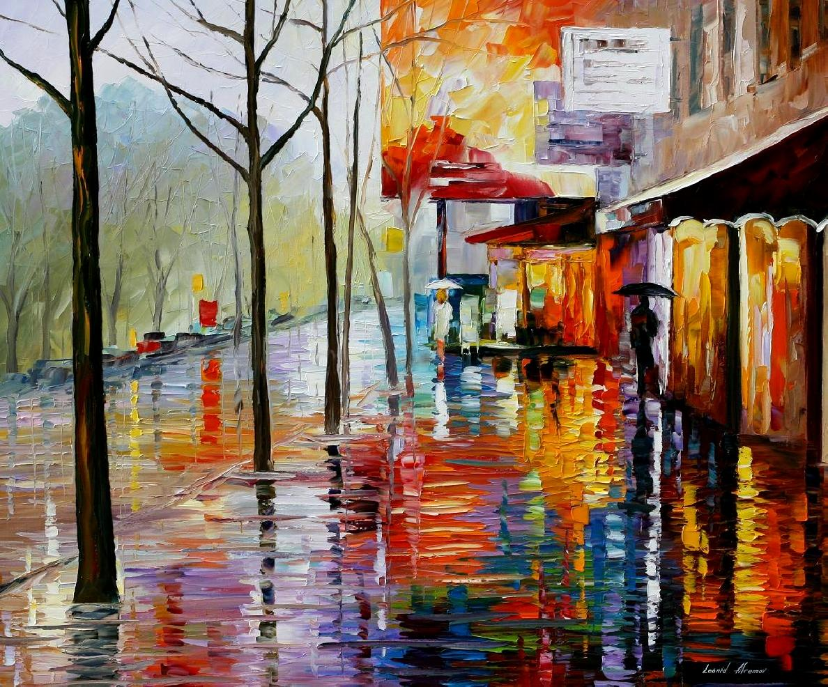 Modern impressionism palette knife oil painting kp15233