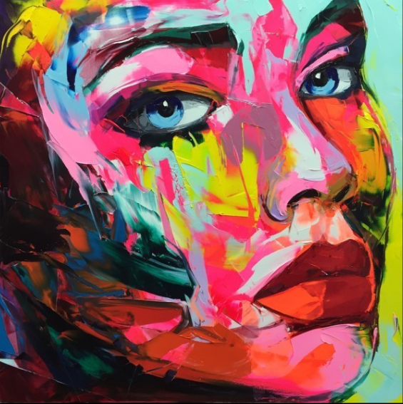 Francoise Nielly Portrait Palette Painting Expression Face004