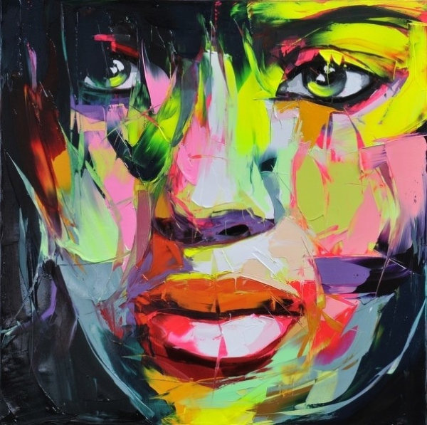 Francoise Nielly Portrait Palette Painting Expression Face012