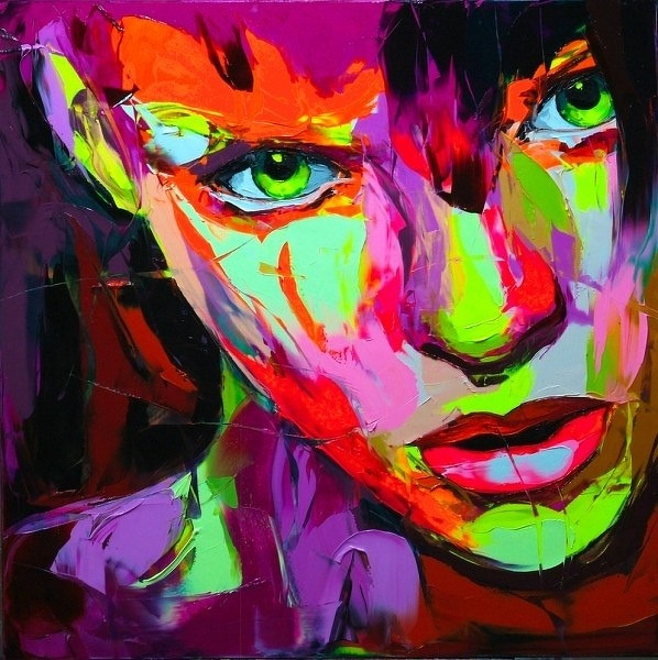 Francoise Nielly Portrait Palette Painting Expression Face017