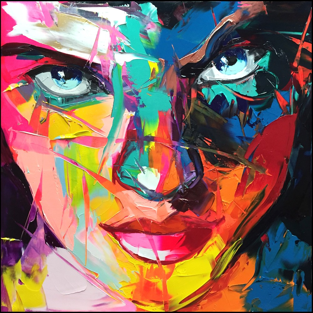 Francoise Nielly Portrait Palette Painting Expression Face023