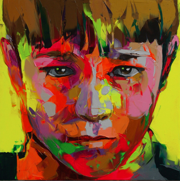 Francoise Nielly Portrait Palette Painting Expression Face025