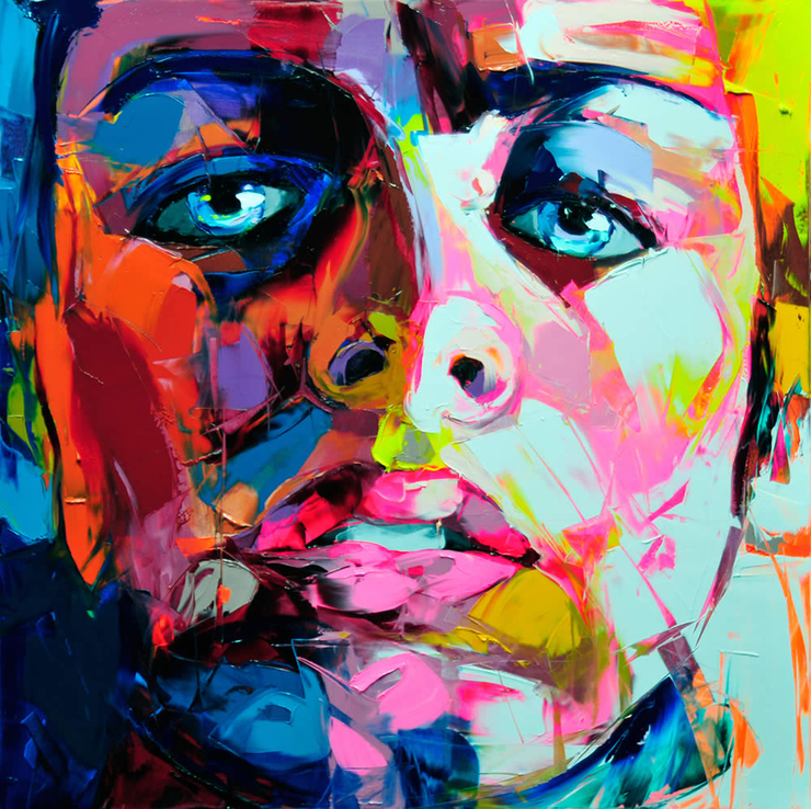 Francoise Nielly Portrait Palette Painting Expression Face030