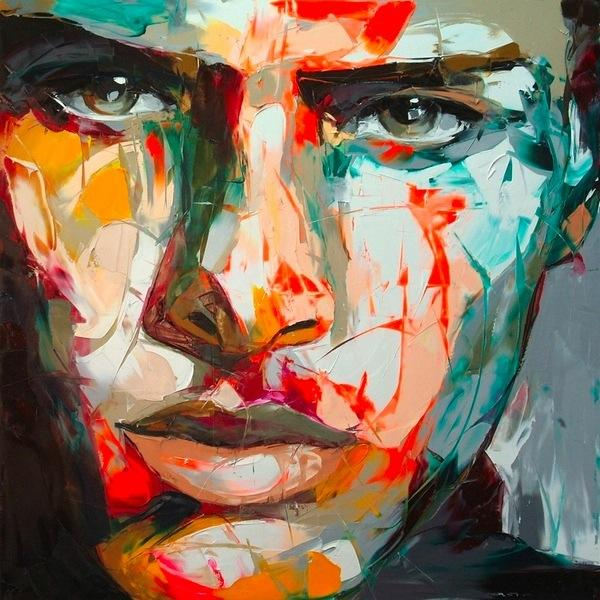 Francoise Nielly Portrait Palette Painting Expression Face034
