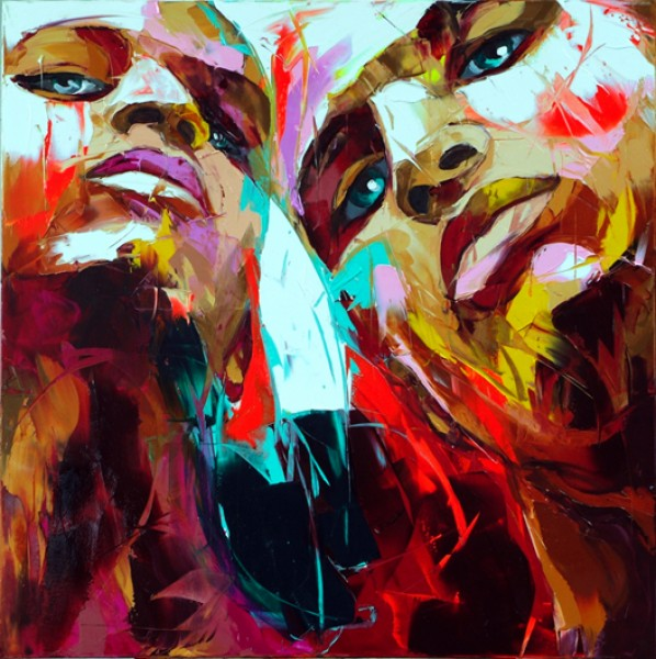 Francoise Nielly Portrait Palette Painting Expression Face038