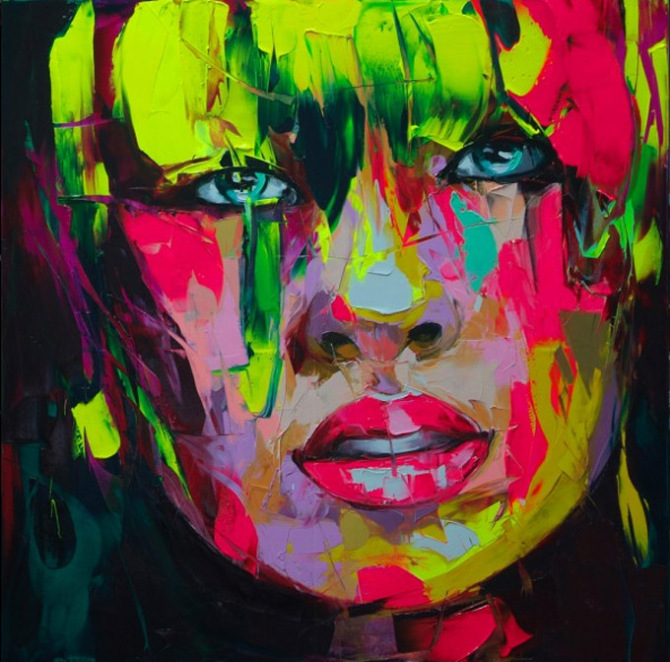 Francoise Nielly Portrait Palette Painting Expression Face042