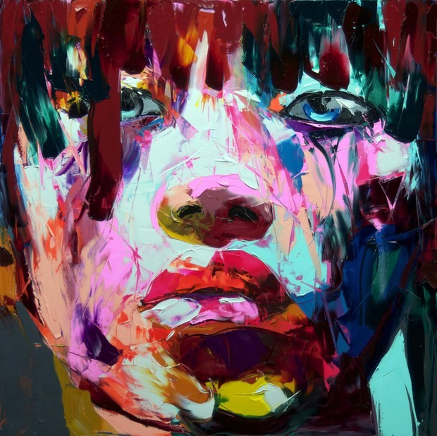 Francoise Nielly Portrait Palette Painting Expression Face047
