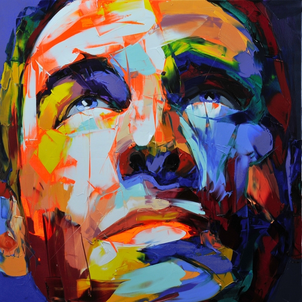 Francoise Nielly Portrait Palette Painting Expression Face051