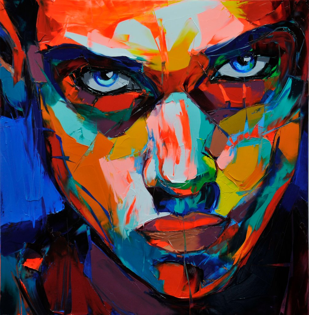 Francoise Nielly Portrait Palette Painting Expression Face054
